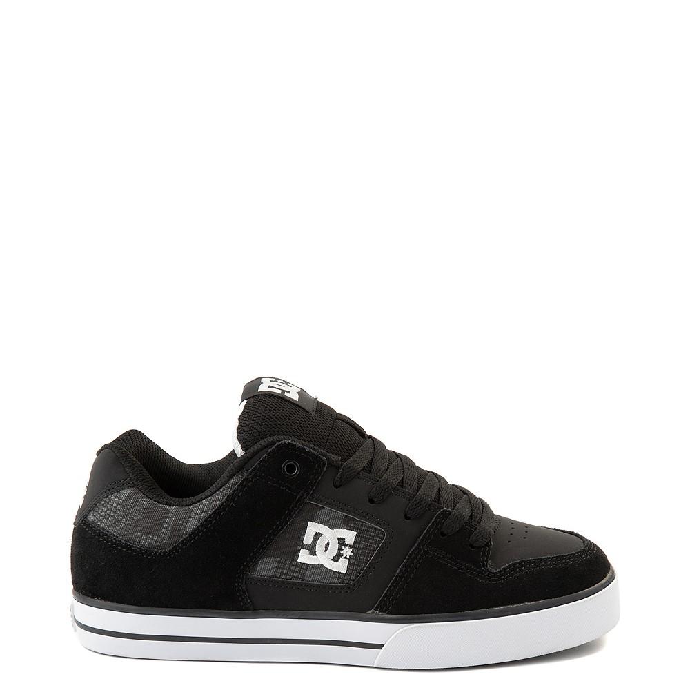 Mens DC Pure Skate Shoe - Black / Gray Camo