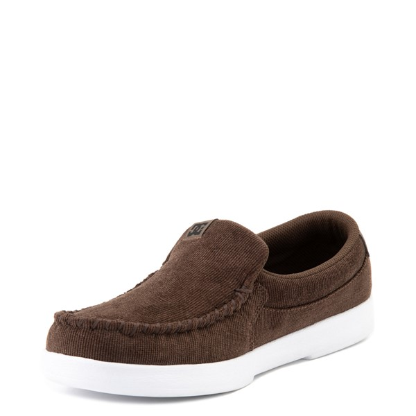 alternate view Mens DC Villain 2 Corduroy Skate Shoe - Dark ChocolateALT3