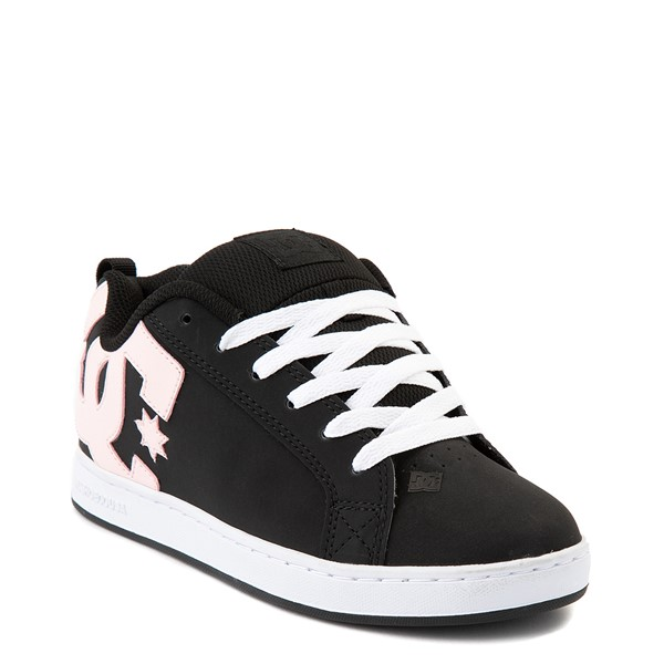 alternate view Womens DC Court Graffik Skate Shoe - Black / PinkALT1