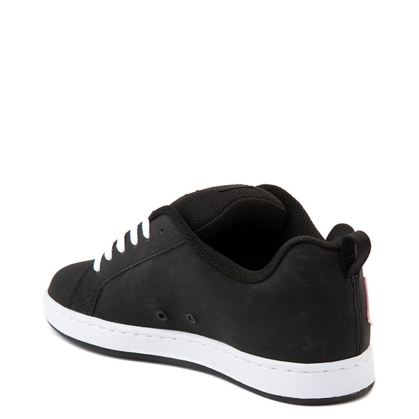 alternate view Womens DC Court Graffik Skate Shoe - Black / PinkALT2