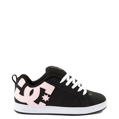 Main view of Womens DC Court Graffik Skate Shoe - Black / Pink