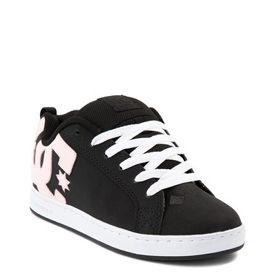 Alternate view of Womens DC Court Graffik Skate Shoe - Black / Pink