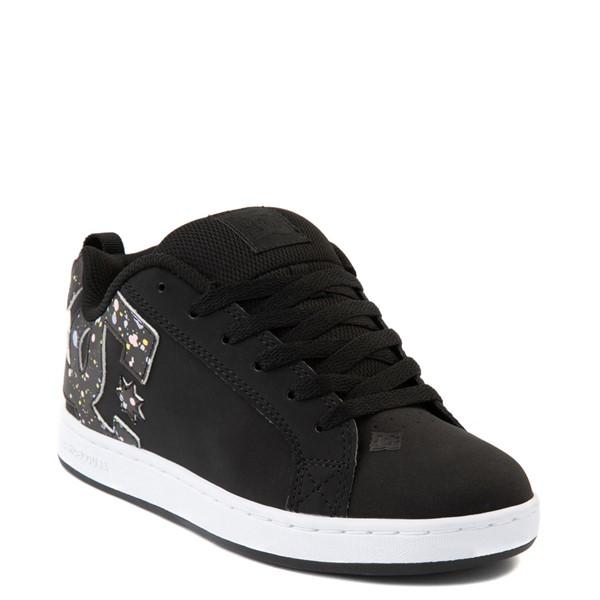 alternate view Womens DC Court Graffik Skate Shoe - Black / SplatterALT1