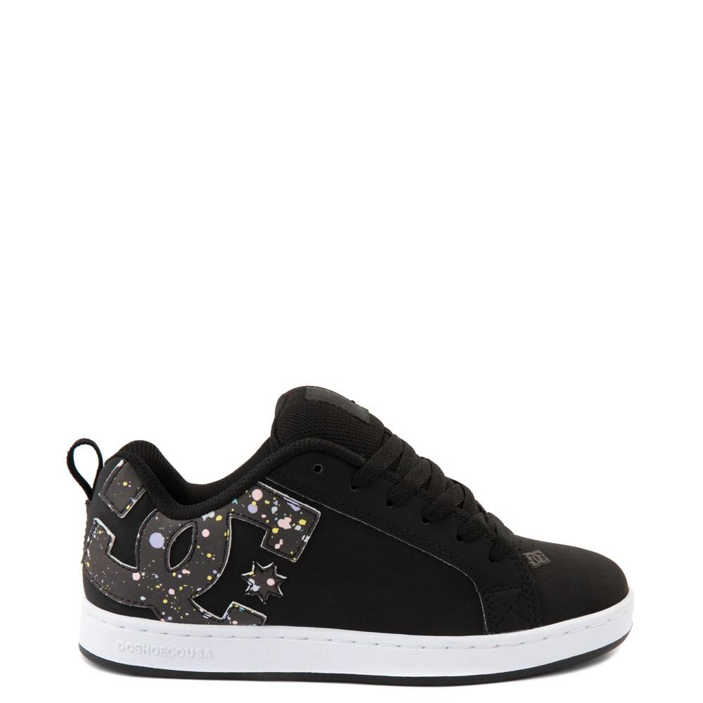 Womens DC Court Graffik Skate Shoe - Black / Splatter