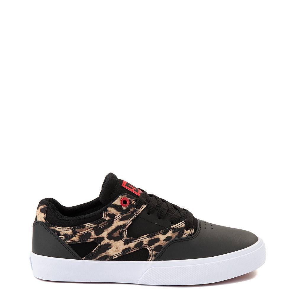 Womens DC Kalis Vulc Skate Shoe - Black / Leopard