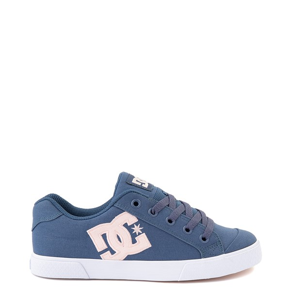 Main view of Womens DC Chelsea Skate Shoe - Light Navy / Pink