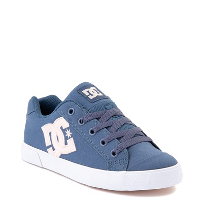Alternate view of Womens DC Chelsea Skate Shoe - Light Navy / Pink