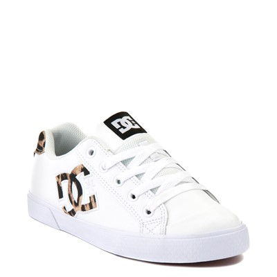 Alternate view of Womens DC Chelsea SE Skate Shoe - White / Leopard