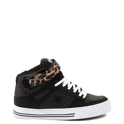 Main view of Womens DC Pure Hi V Skate Shoe - Black / Leopard