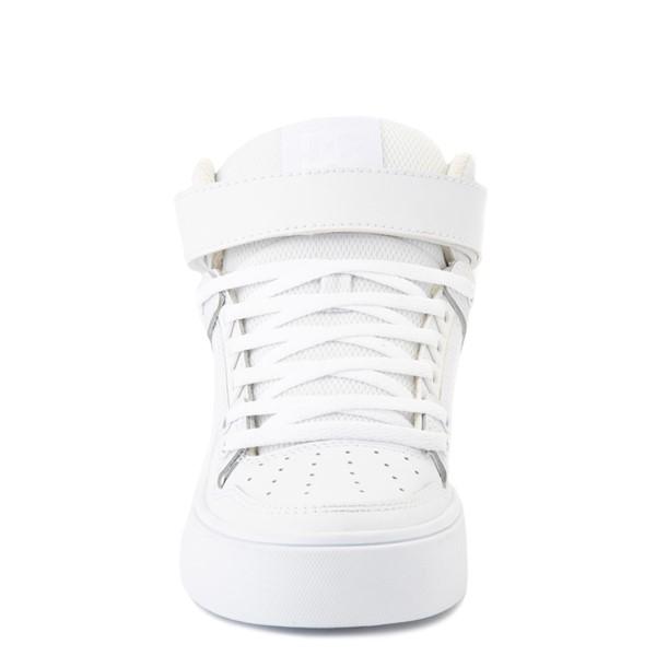 alternate view Womens DC Pure Hi V Skate Shoe - White MonochromeALT4