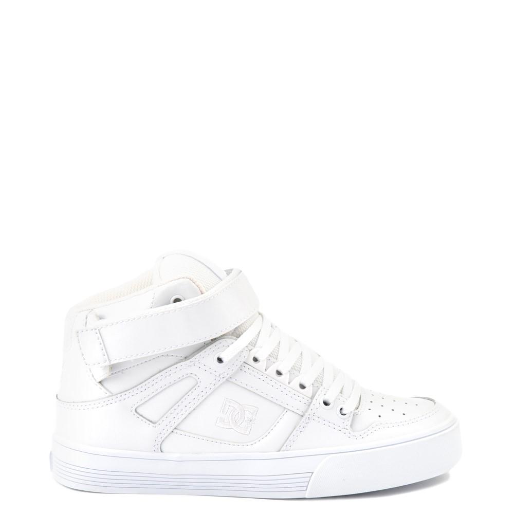 Womens DC Pure Hi V Skate Shoe - White Monochrome