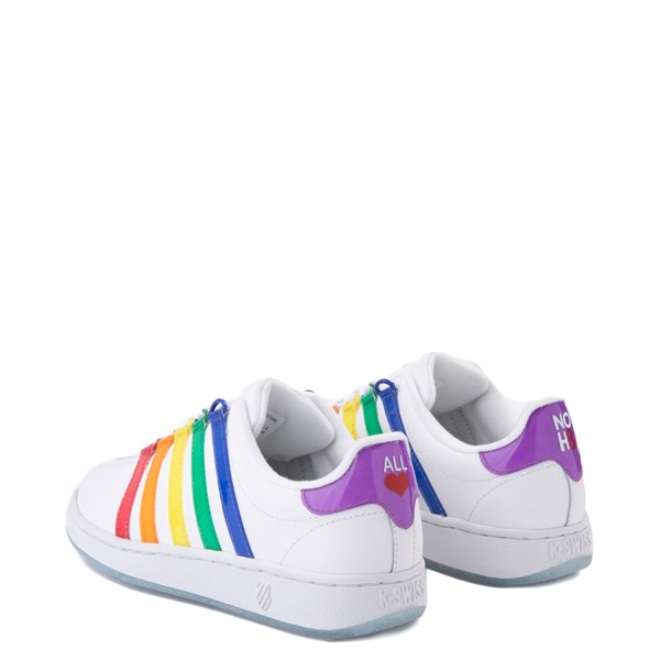 alternate view Mens K-Swiss x NOH8 Classic VN Pride Athletic Shoe - White / RainbowALT2