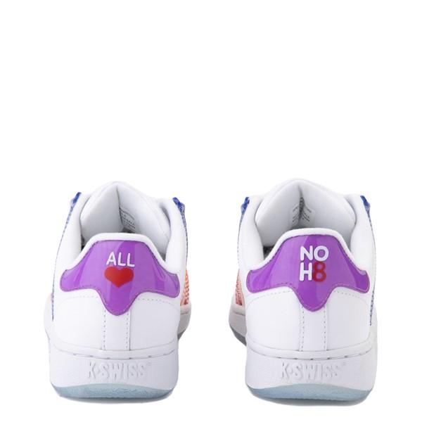 alternate view Mens K-Swiss x NOH8 Classic VN Pride Athletic Shoe - White / RainbowALT2B