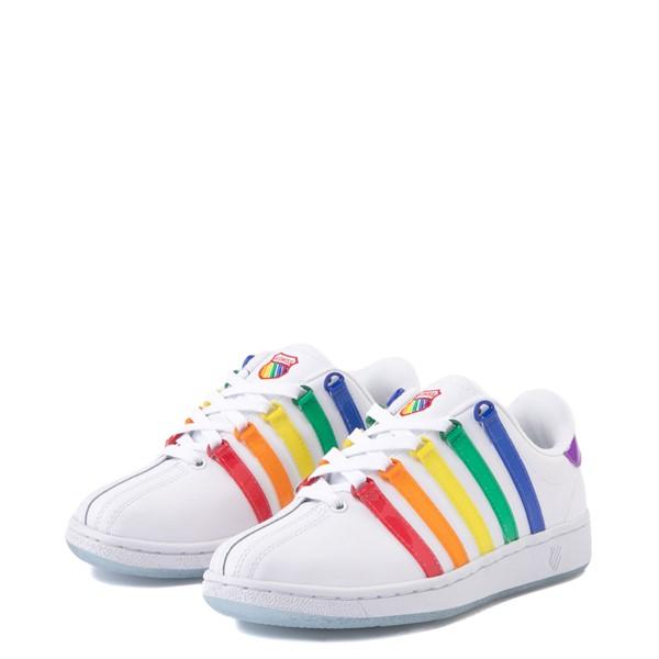 alternate view Mens K-Swiss x NOH8 Classic VN Pride Athletic Shoe - White / RainbowALT3