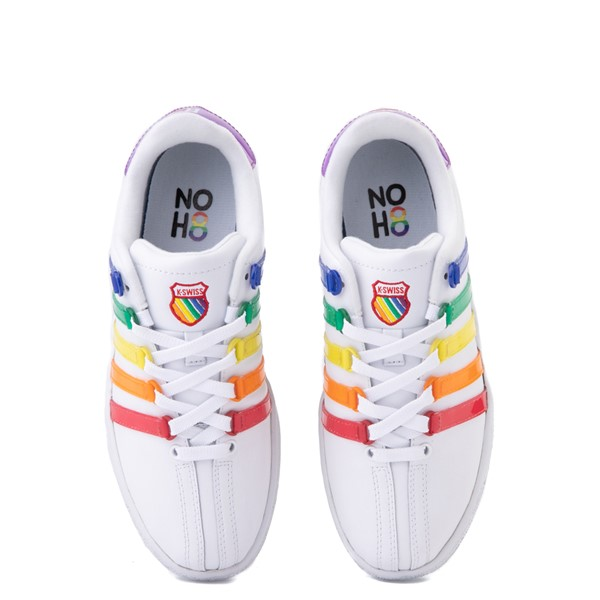 alternate view Mens K-Swiss x NOH8 Classic VN Pride Athletic Shoe - White / RainbowALT4B