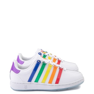 Main view of Mens K-Swiss x NOH8 Classic VN Pride Athletic Shoe - White / Rainbow