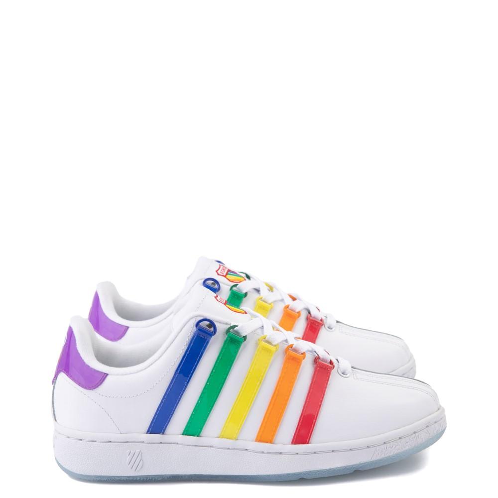 Mens K-Swiss x NOH8 Classic VN Pride Athletic Shoe - White / Rainbow