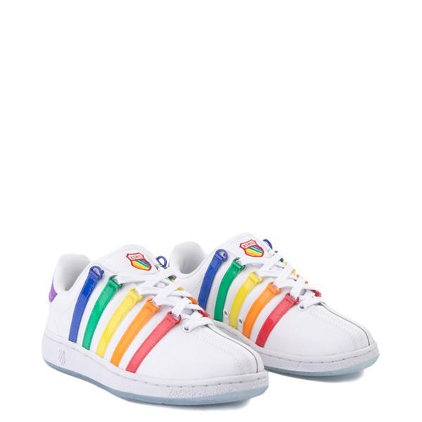 alternate view Womens K-Swiss x NOH8 Classic VN Pride Athletic Shoe - White / RainbowALT1B