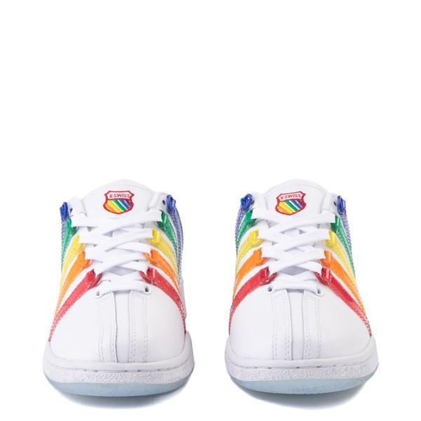 alternate view Womens K-Swiss x NOH8 Classic VN Pride Athletic Shoe - White / RainbowALT4