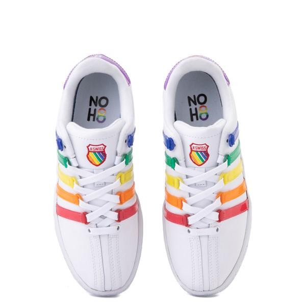alternate view Womens K-Swiss x NOH8 Classic VN Pride Athletic Shoe - White / RainbowALT4B