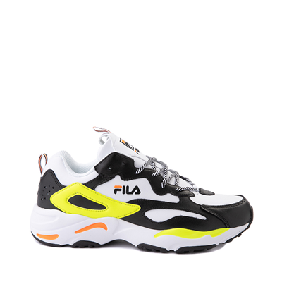 Main view of Mens Fila Ray Tracer Athletic Shoe - White / Black / Safety Yellow
