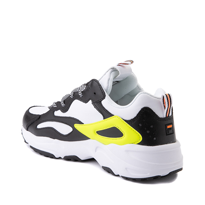 Alternate view of Mens Fila Ray Tracer Athletic Shoe - White / Black / Safety Yellow