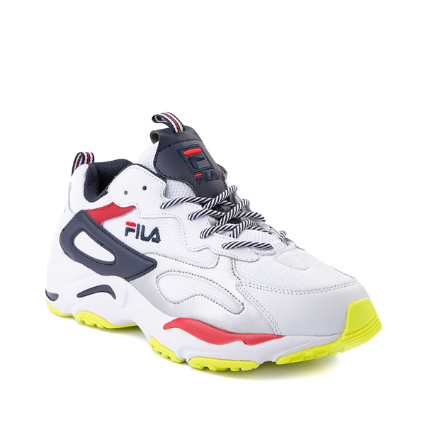 alternate view Mens Fila Ray Tracer Athletic Shoe - White / Navy / RedALT5
