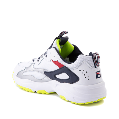 Alternate view of Mens Fila Ray Tracer Athletic Shoe - White / Navy / Red