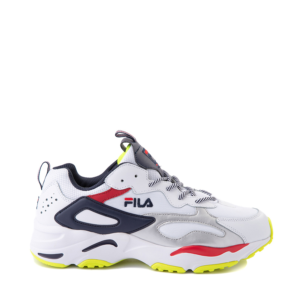 Mens Fila Ray Tracer Athletic Shoe - White / Navy / Red