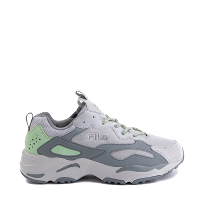 Main view of Mens Fila Ray Tracer Athletic Shoe - Gray / Mint Green