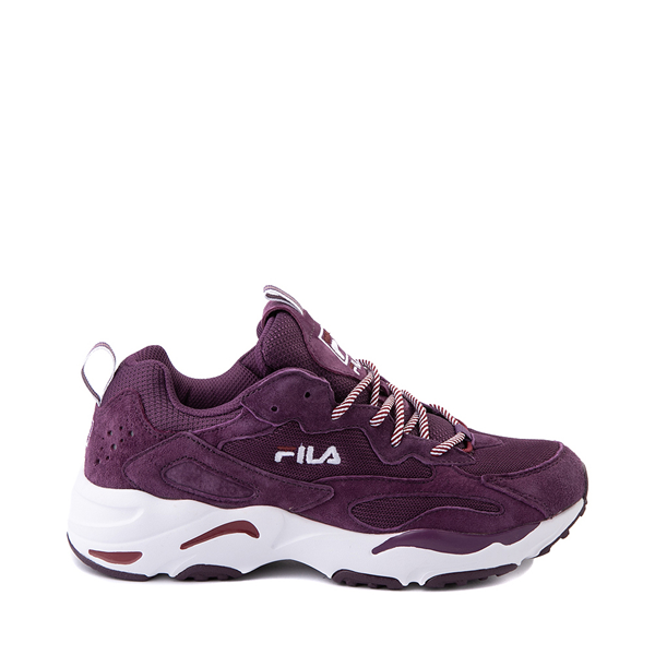 Main view of Womens Fila Ray Tracer Athletic Shoe - Purple / Rosewood / White