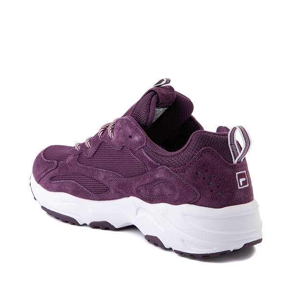 alternate view Womens Fila Ray Tracer Athletic Shoe - Purple / Rosewood / WhiteALT1