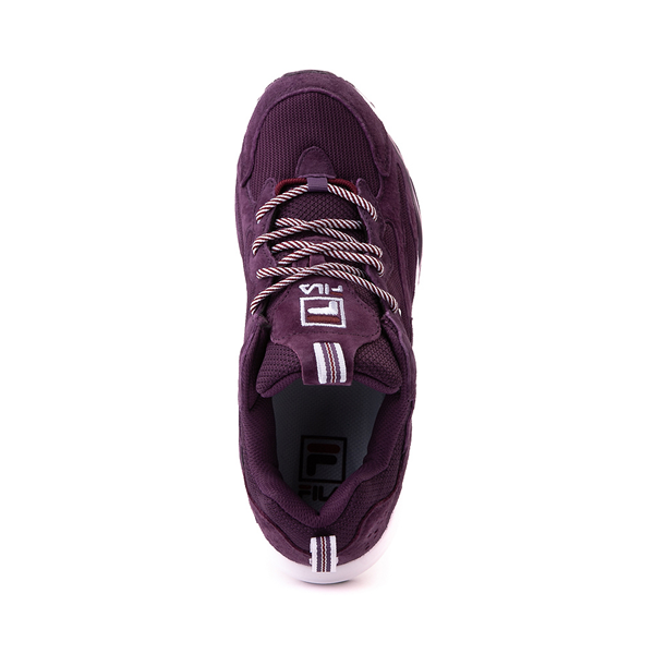 alternate view Womens Fila Ray Tracer Athletic Shoe - Purple / Rosewood / WhiteALT2
