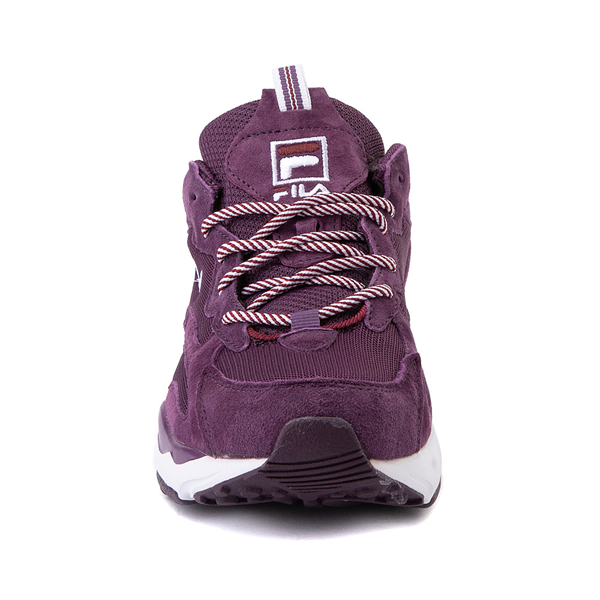 alternate view Womens Fila Ray Tracer Athletic Shoe - Purple / Rosewood / WhiteALT4
