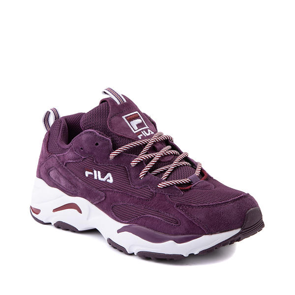 alternate view Womens Fila Ray Tracer Athletic Shoe - Purple / Rosewood / WhiteALT5