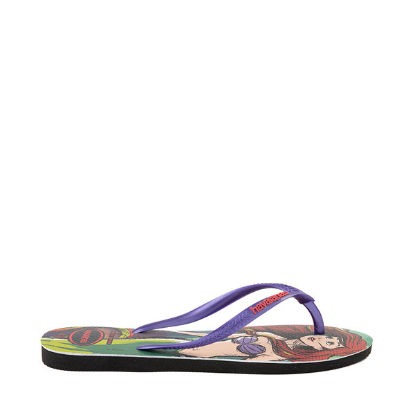 alternate view Womens Havaianas Disney Slim Villains Sandal - Ariel / UrsulaALT1