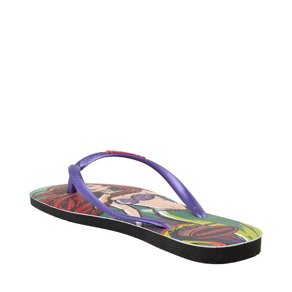 alternate view Womens Havaianas Disney Slim Villains Sandal - Ariel / UrsulaALT1B