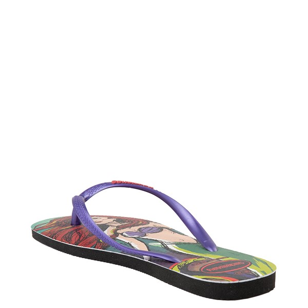 alternate view Womens Havaianas Disney Slim Villains Sandal - Ariel / UrsulaALT2