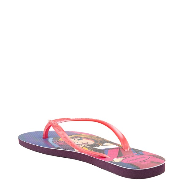 alternate view Womens Havaianas Disney Slim Villains Sandal - Aurora / MaleficentALT2