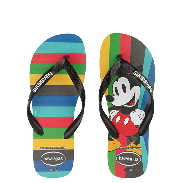 Main view of Havaianas Top Magic Mickey Sandal - Black / Rainbow