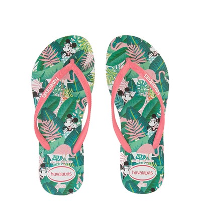 Main view of Womens Havaianas Top Magic Minnie Sandal - Pink Porcelain