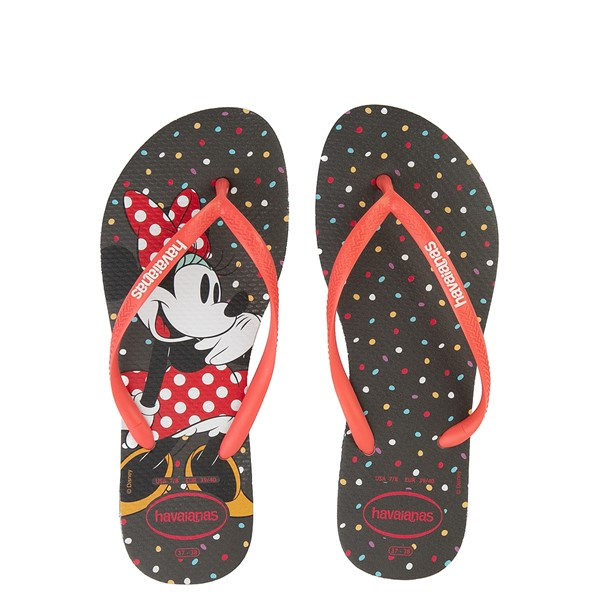 Main view of Womens Havaianas Top Magic Minnie Sandal - Black