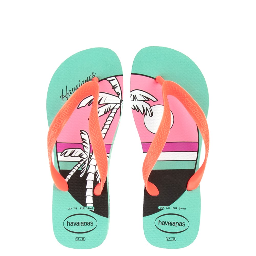Womens Havaianas Top Vibes Sandal - Green Dew