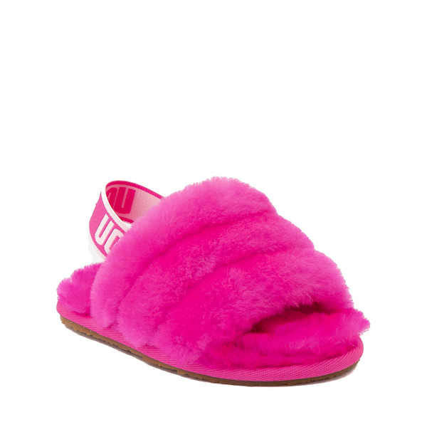 alternate view UGG® Fluff Yeah Slide Sandal - Toddler / Little Kid - Rock RoseALT5