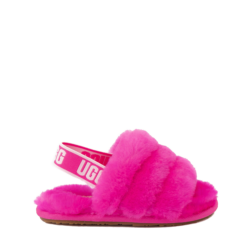UGG® Fluff Yeah Slide Sandal - Toddler / Little Kid - Rock Rose