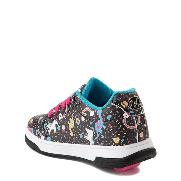 alternate view Heelys Split Unicorn Skate Shoe - Little Kid / Big Kid - Black / MulticolorALT1