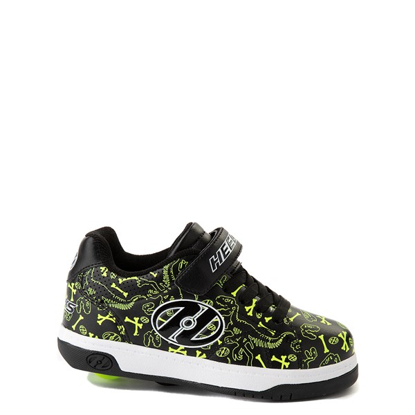Heelys Swerve X2 Dino Skate Shoe - Little Kid / Big Kid - Black / Volt