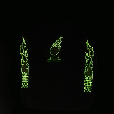 Alternate view of Vans Glow Flame Long Sleeve Tee - Little Kid / Big Kid - Black