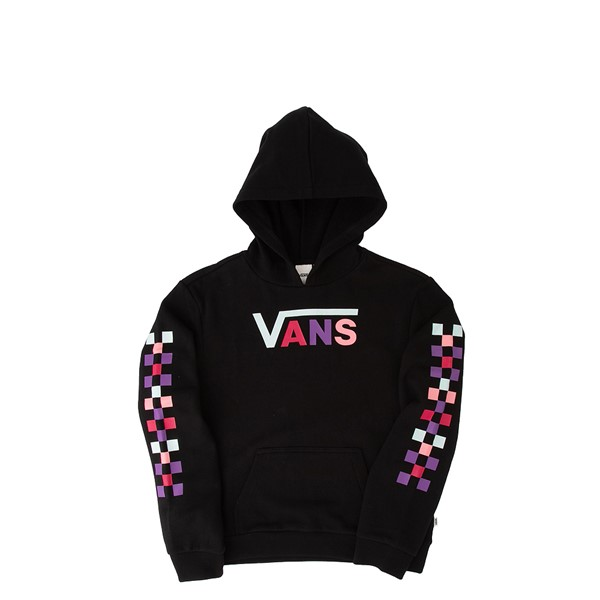Vans Pastel Check Hoodie - Little Kid / Big Kid - Black