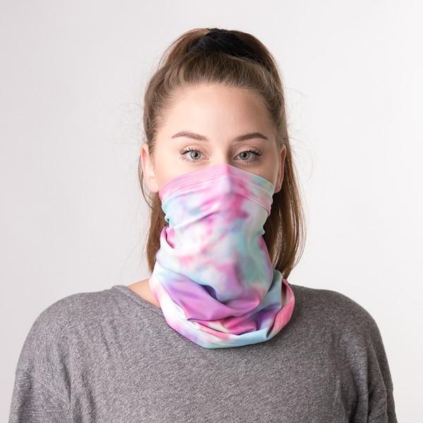 alternate view Gaiter Mask 2 Pack - Pastel Tie Dye / LeopardALT1